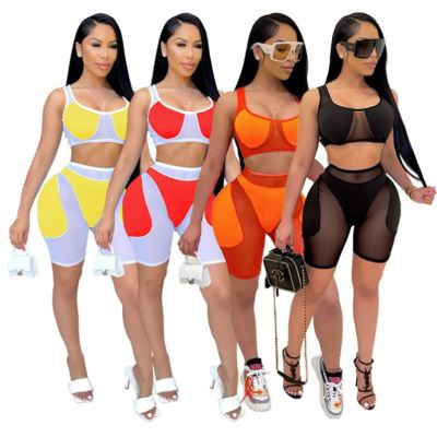 1042717 Hot Selling 2021 Summer Women Fashion Clothing Womens 2 Piece Outfit