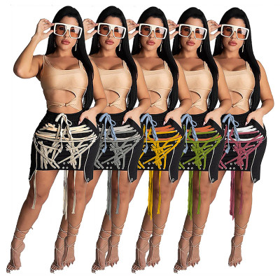 Best Design Lacing Cool Fashion New Outfits Female Clothes Women Short Skirt Fashion Clothing Women'S Skirts