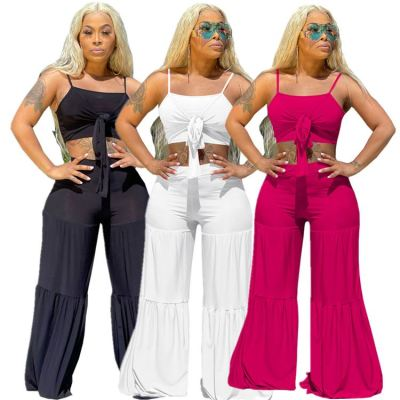 1042910 Wholesale Fashion Women Clothes 2021 Summer Outfits Two Piece Set Women Clothing