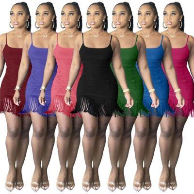 1050504 Best Seller Women Clothes 2021 Summer Dress Women Lady Elegant Casual Dress