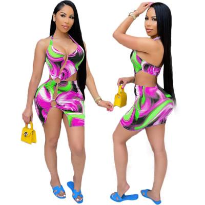 1050606 Latest Design Women Fashion Clothing 2021 Summer Woman Casual Dress