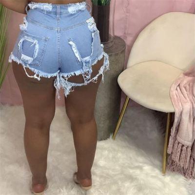 1050603 Good Quality Women Fashion Clothing Ladies High Waist Bandage Jeans Women Denim Pants