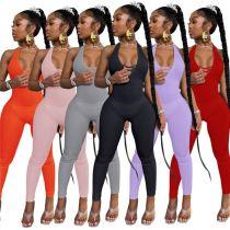 1050841 Latest Design 2021 Summer Women Bodycon Jumpsuit