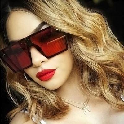 2021 Vintage Shades Oversized Fashion Trendy Designer Ladies Sun Glasses Custom Wholesale Rimless Women Sunglasses