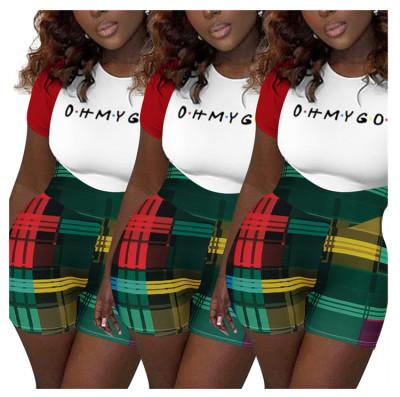 1050859 Best Design Stacked Jumpsuits 2021 One Shoulder Jumpsuit Short Sleeve