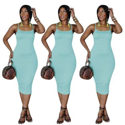 1050864 2021 Fashionable Summer Dress Cutout Dress Sexy Wimen Dress