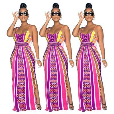 1050865 2021 Fashionable Summer Dress Cutout Dress Sexy Wimen Dress