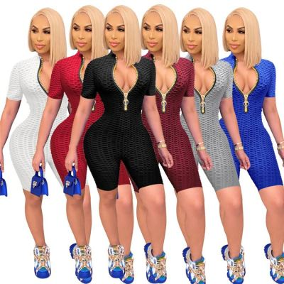 1051415 Women Clothing 2021 Summer Bodycon Jumpsuit Women One Piece Jumpsuits And Rompers