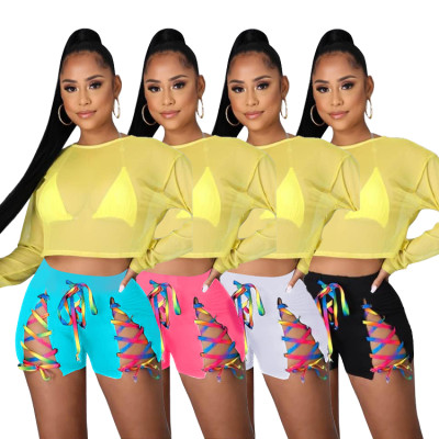 1051405 Best Design Women Clothes Bandage 2021 short pants summer Women's Trousers & Pants
