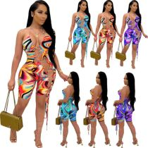 1051402 Women Clothing 2021 Summer Bodycon Jumpsuit Women One Piece Jumpsuits And Rompers