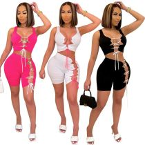 1051719 Hot Selling Women 2021 Summer Clothes Outfits Women Two Piece Short Set