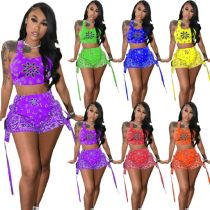 1051702 Hot Selling Women 2021 Summer Clothes Outfits Women Two Piece Short Set