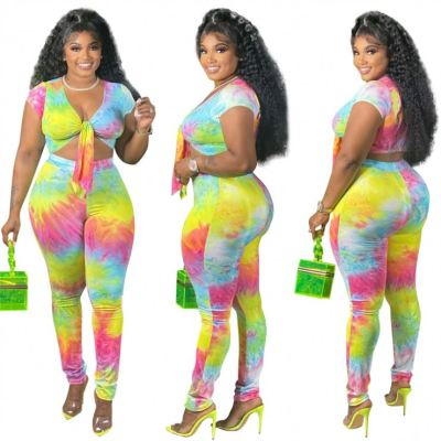 1052167 Fashionable Two Piece Set 2021 Womens Tracksuits 2 Piece Set Two Piece Summer Sets