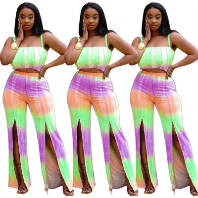 1052168 New Trendy 2021 Two Piece Set Women Clothing Lucky Label Two Piece Set Sexy 2 Piece Sets