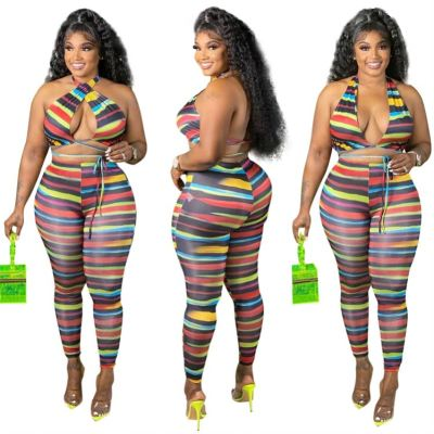 1052166 Fashionable Two Piece Set 2021 Womens Tracksuits 2 Piece Set Two Piece Summer Sets
