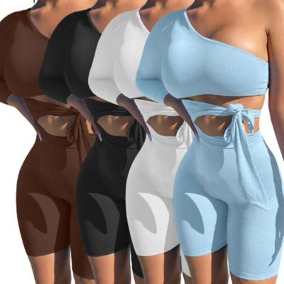 1052805 Hot Selling 2021 Summer Fashion Clothes Two Piece Outfits Women 2 Piece Set