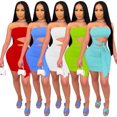 1052822 New Arrival 2021 Summer Women Fashion Clothes Ladies Sexy Dress Women Casual Dresses