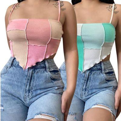 1052810 Best Seller 2021 Summer Fashion Clothes Ladies T-Shirts Sexy Women Tank Crop Tops