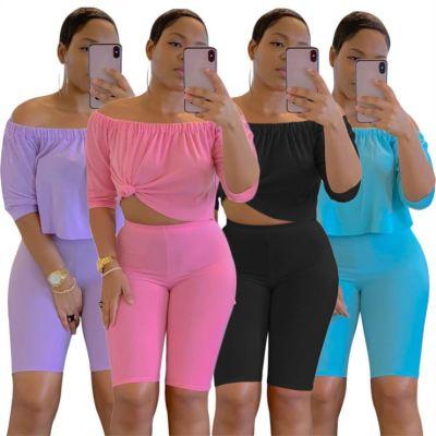 1052655 Fashionable Sexy 2 Piece Sets Summer 2 Piece Set Women 2 Piece Jogger Set
