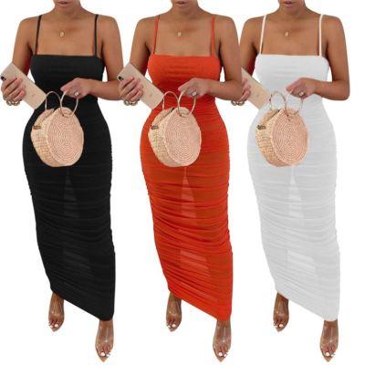 1052670 Best Design Summer Dress 2021 Casual Women Summer Maxi Dress Fitted Dresses