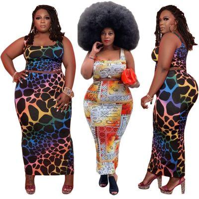 1060114 Best Seller Women Clothes 2021 Summer Plus Size Skirt Sets Women 2 Piece Outfits