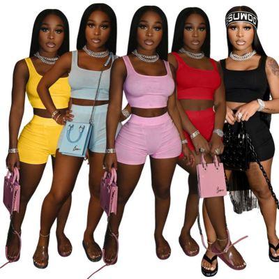 1060108 Best Seller Women Clothes 2021 Summer Two Piece Outfits Women 2 Piece Set