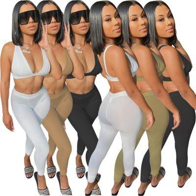 1060104 Best Seller Women Clothes 2021 Summer Two Piece Outfits Women 2 Piece Set