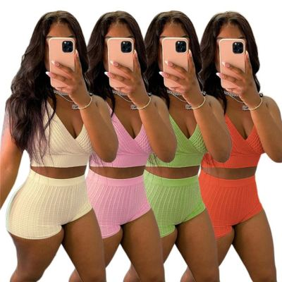 1060302 Hot Selling Women Clothes 2021 Summer women two piece outfit 2 piece set