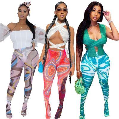 1060268 New Arrival 2021 Long Pants Women Compressions Pants Casual Pants For Women