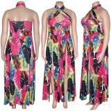 1060238 High Quality Floral Casual Plus Size Women Dress
