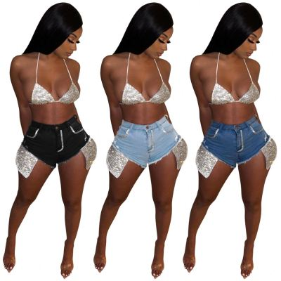 1060456 High Quality Summer 2021 Jeans Fabric Shorts For Women