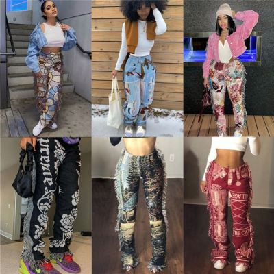 1060707 Best Design 2021 Women Fashion Clothing Women's Trousers Pants