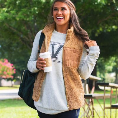 PEARL Autumn Winter Thicked Jacket Coats Women Panelled Warm Vests Solid Color Plus Size Coats