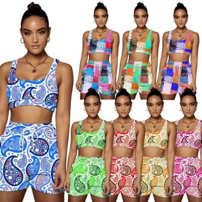 1060709 Best Seller Women Clothes 2021 Summer Two Piece Outfits Women 2 Piece Set Clothing