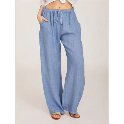 PEARL Woman Pants 2021 Casual Cotton And Linen Loose Yoga Pants Solid Color High Waist Plus Size Women's Trousers