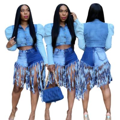 1060703 Good Quality Women Fashion Clothing 2021 Summer Tassel Ladies Short Jeans Women Denim Shorts