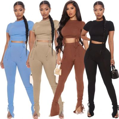 1061008 Hot Selling Women Clothes 2021 Summer women two piece outfit 2 piece set
