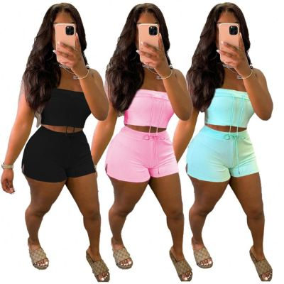 1061010 Hot Selling Women Clothes 2021 Summer women two piece outfit 2 piece set
