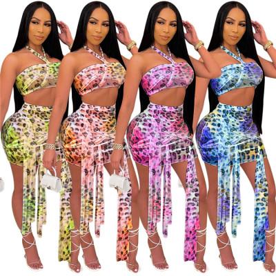 1060536 Best Design 2021 Women Clothes Sexy Two Piece Skirt Set