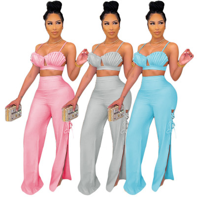 1061003 Hot Selling Women Clothes 2021 Summer women two piece outfit 2 piece set