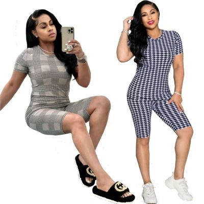 1060532 Latest Design Summer 2021 Women Fashion Clothing Sexy Two Piece Pants Set