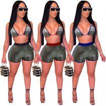 MOEN Hot Sale Women Fashion Clothes 2021 Summer Sexy Backless 2 Piece Short Set Two Piece Set Women Clothing