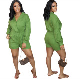 MOEN Amazon 2021 High Waist Women Jumpsuits Solid Color Cargo Shorts One Piece Jumpsuit For Women Sexy