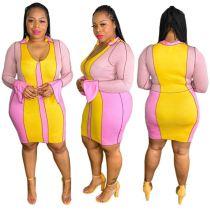 MOEN Lowest Price Streetwear Summer Dress Women Clothing Elegant Casual Patchwork Plus Size Womens Dresses