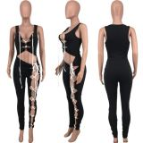 MOEN Fashionable 2021 Summer Bodycon Jumpsuit Solid Color Bandage Night Clubwear Women One piece Jumpsuits And Rompers