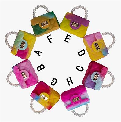 Fashion Women's Mini Gradient Color Jelly Handbags Casual Cross Body Bags Bag High Quality Chain Cross Body Bag