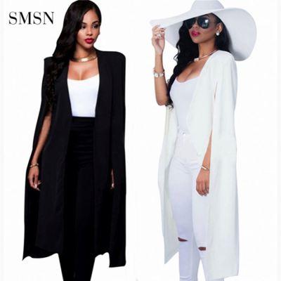 MOEN 2021 High Quality Women'S Coats Autumn Coat Solid Color Print Women Cloak Coat