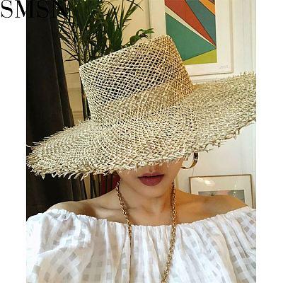 MISS Good Quality Lovely Boho Tassel Design Straw Khaki Hat