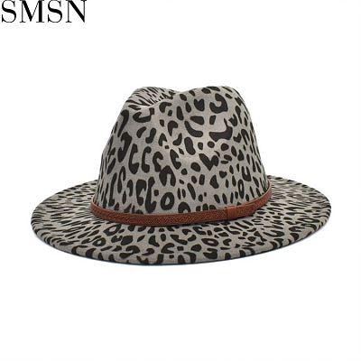 MISS Latest Design National Style Autumn Leopard Print Fashion Fedora Designer Hats