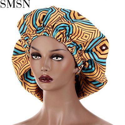 MISS Amazon 2021 African Style Fashion Print Elastic Nightcap Summer Designer Hats